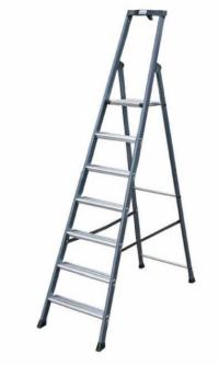 Лестница-стремянка 7 ступеней, анодированная, Премиум класс