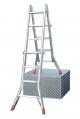Шарнирная четырехсекционная телескопическая лестница 4х4