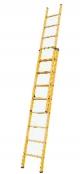 Выдвижная лестница из стекловолокна, 2х6 ступеней